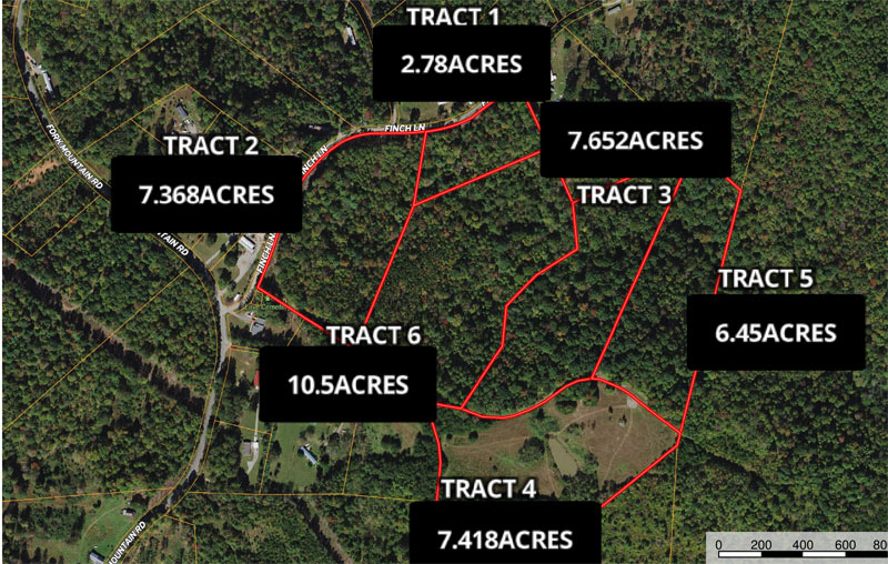 Land auction Franklin County, VA